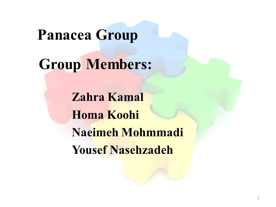 Panacea Group Group Members: