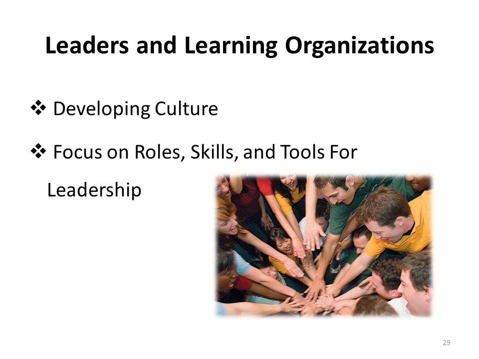 Leaders and Learning Organizations