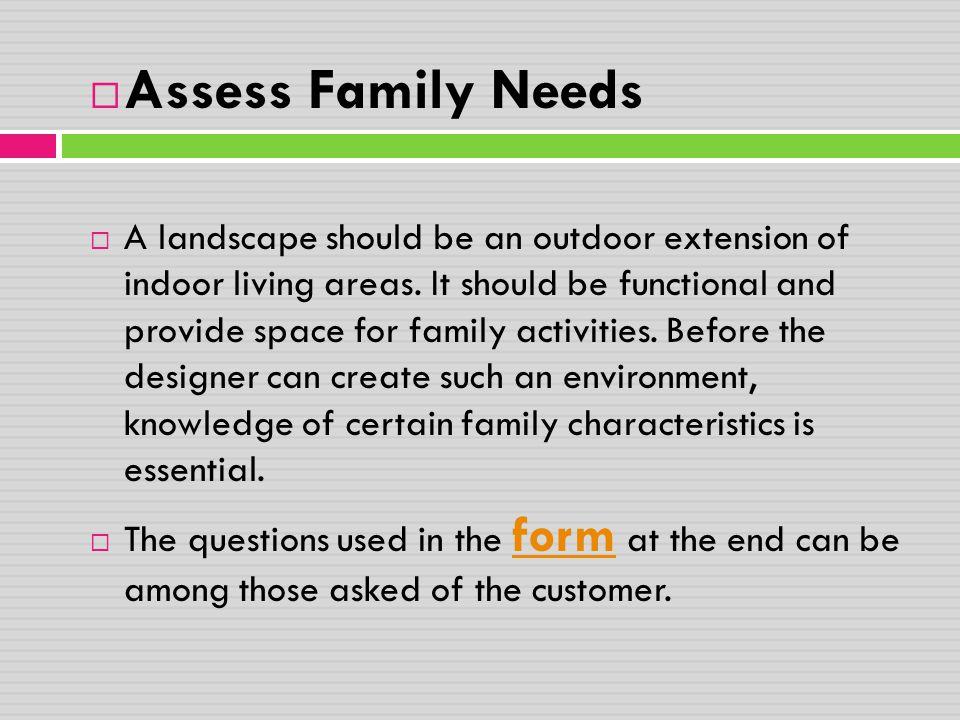 Assess Family Needs