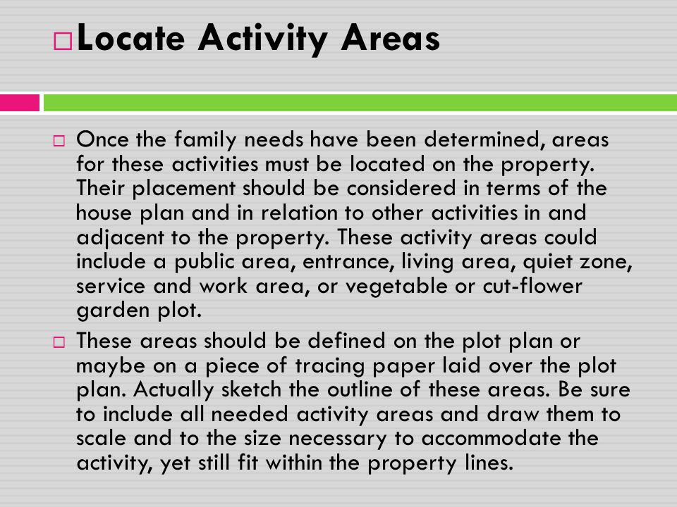 Locate Activity Areas