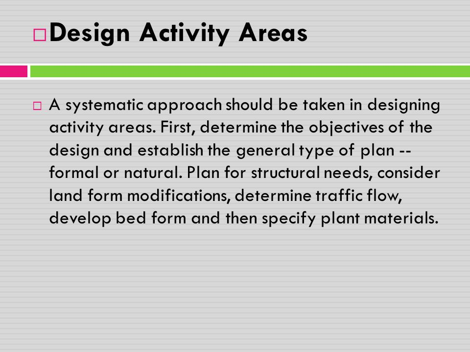 Design Activity Areas