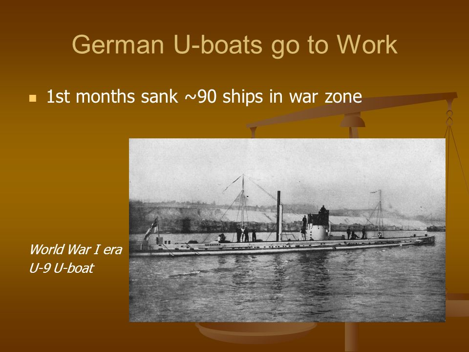 German U-boats go to Work