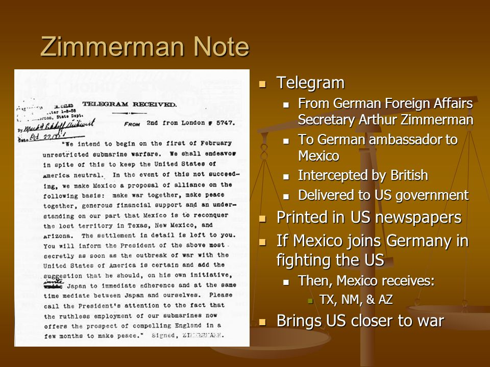 Zimmerman Note Telegram Printed in US newspapers