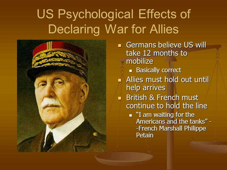 US Psychological Effects of Declaring War for Allies