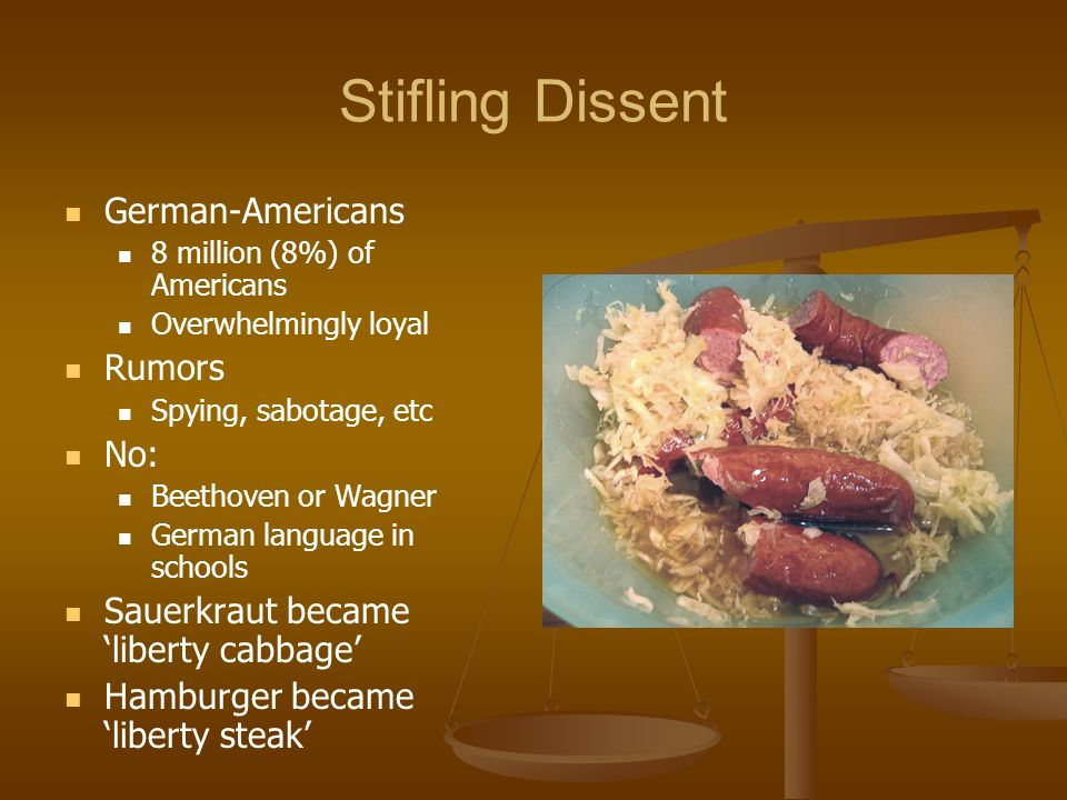 Stifling Dissent German-Americans Rumors No: