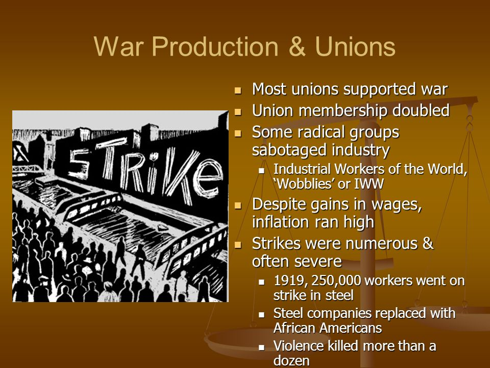 War Production & Unions