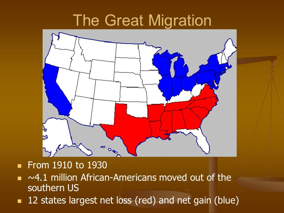 The Great Migration From 1910 to 1930