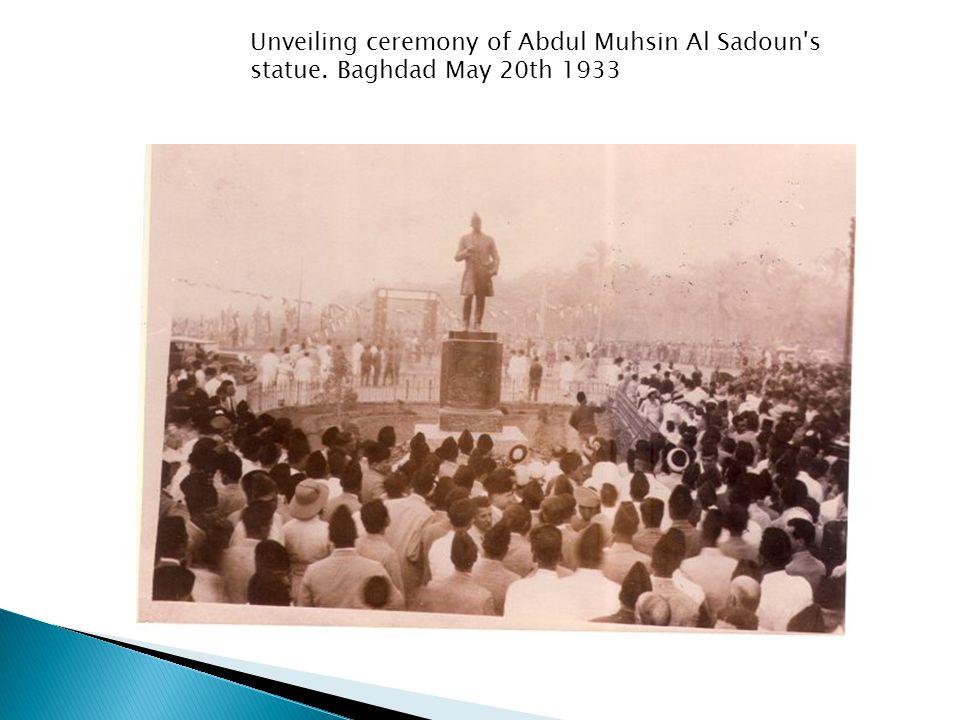 Unveiling ceremony of Abdul Muhsin Al Sadoun s statue