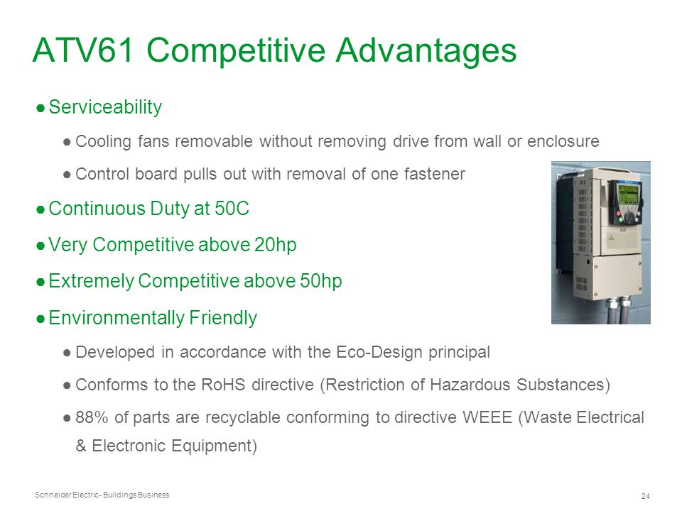 ATV61 Competitive Advantages
