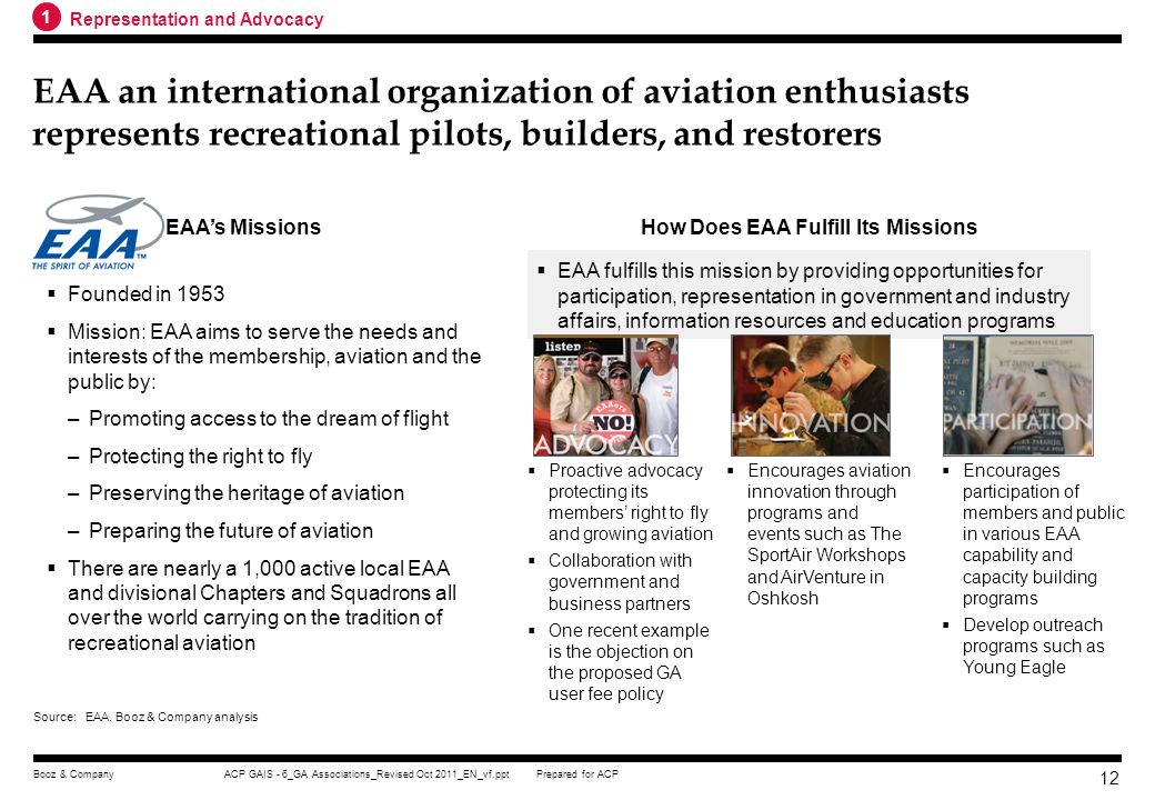 How Does EAA Fulfill Its Missions