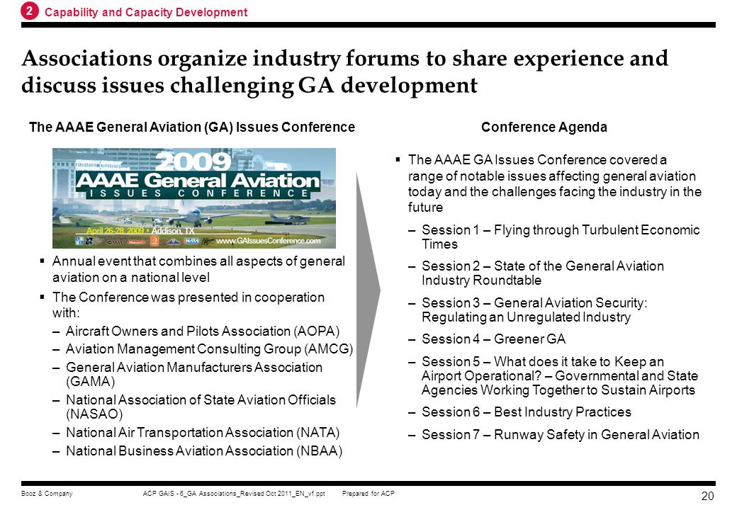 The AAAE General Aviation (GA) Issues Conference