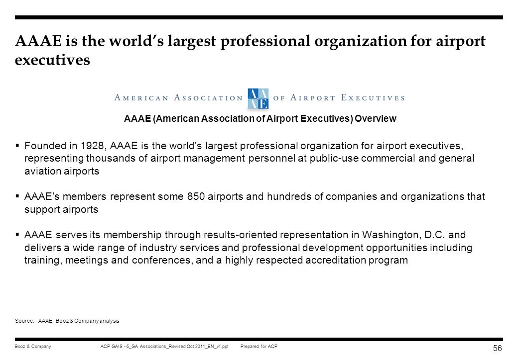 AAAE (American Association of Airport Executives) Overview