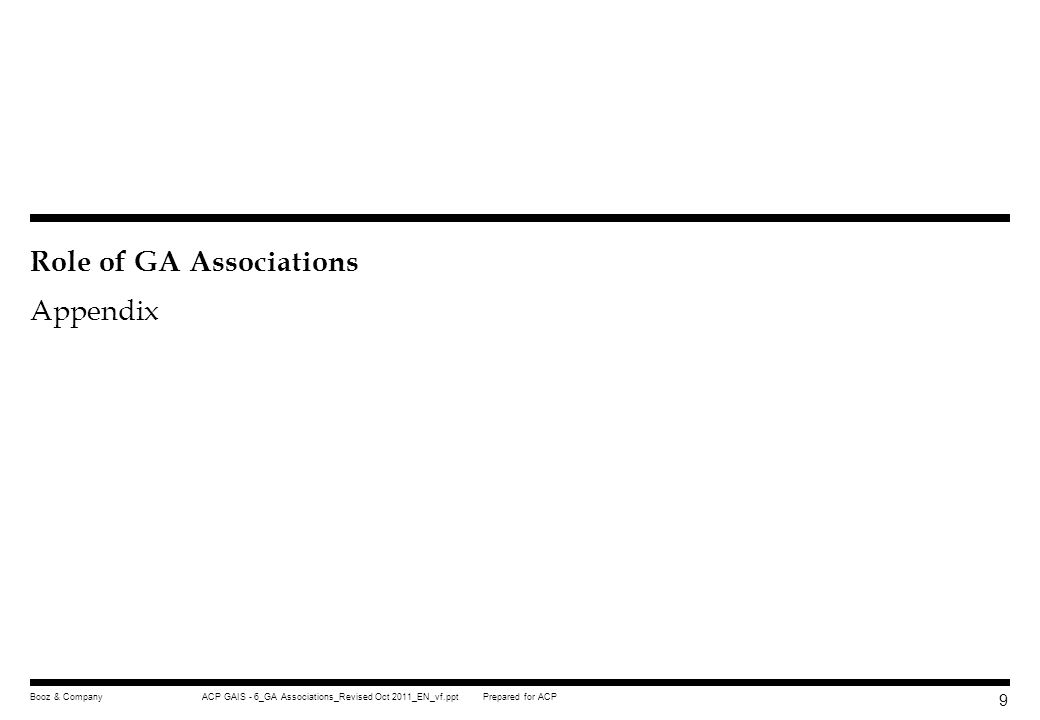 Role of GA Associations Appendix