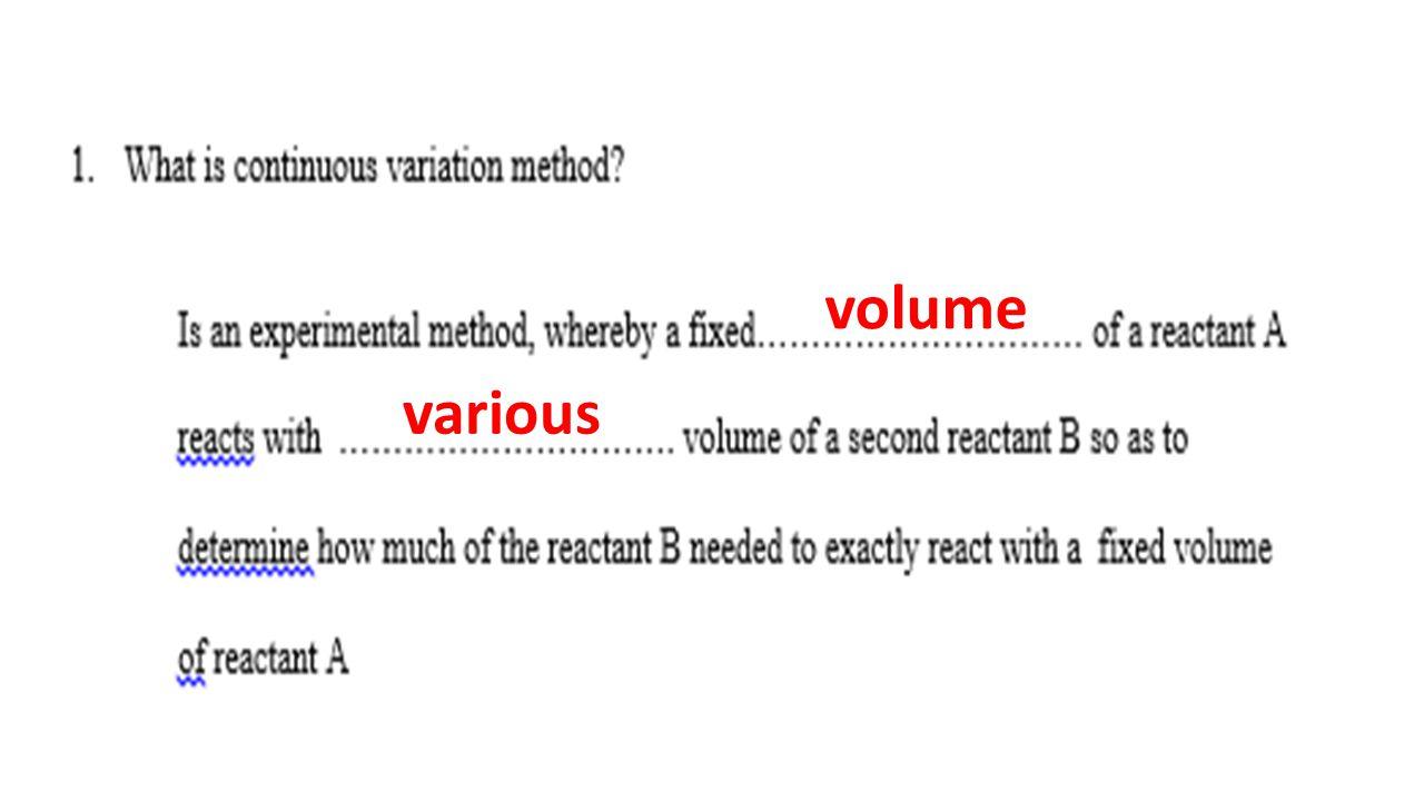 volume various
