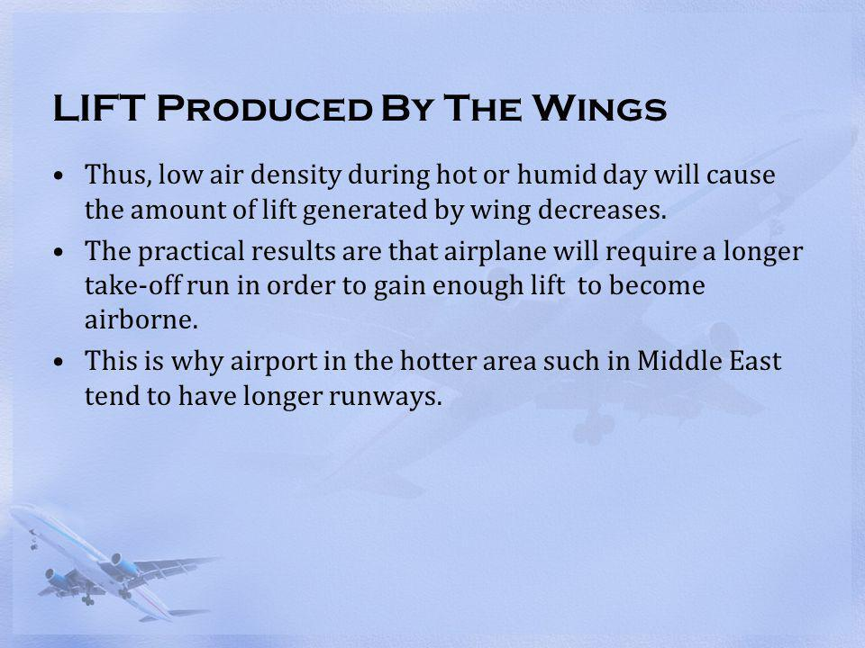 LIFT Produced By The Wings