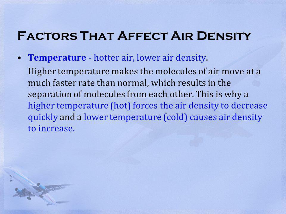 Factors That Affect Air Density