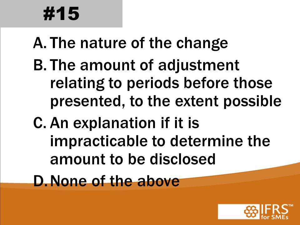 #15 The nature of the change