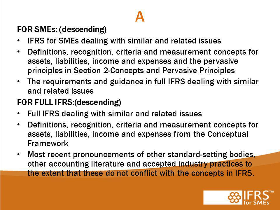 A FOR SMEs: (descending)
