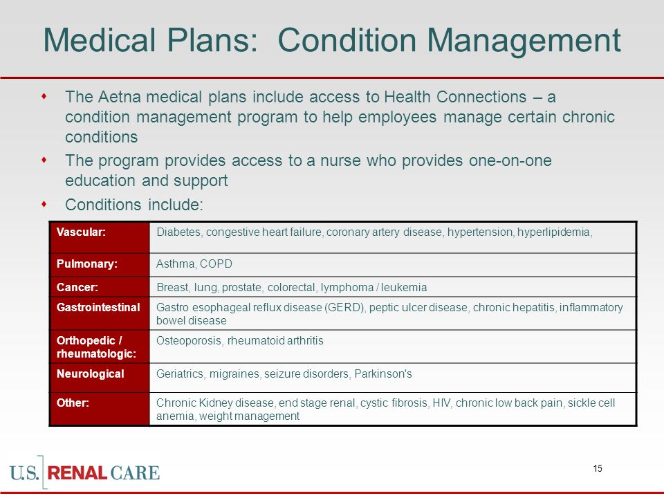 Medical Plans: Condition Management