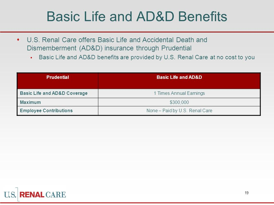 Basic Life and AD&D Benefits