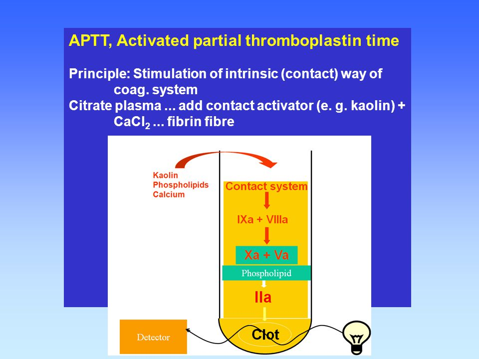 APTT, Activated partial thromboplastin time