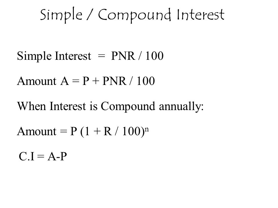 Simple / Compound Interest