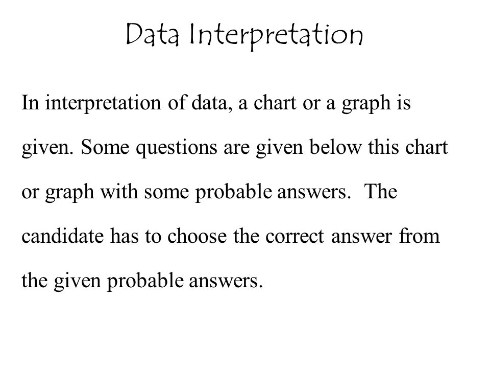 Data Interpretation