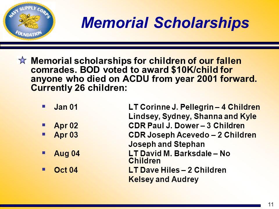 Memorial Scholarships