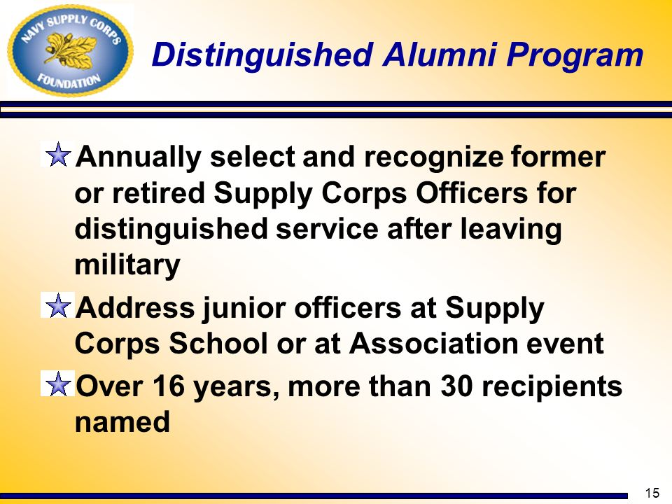 Distinguished Alumni Program