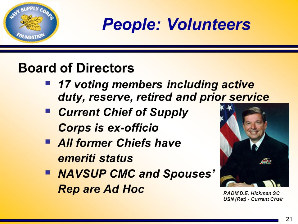 People: Volunteers Board of Directors