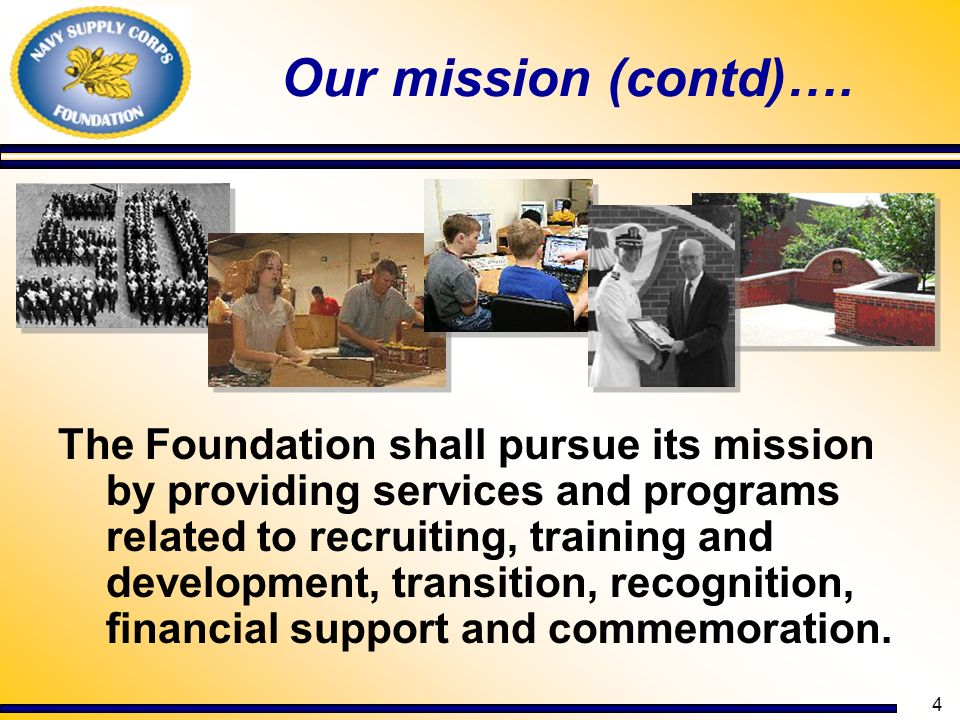 Our mission (contd)….