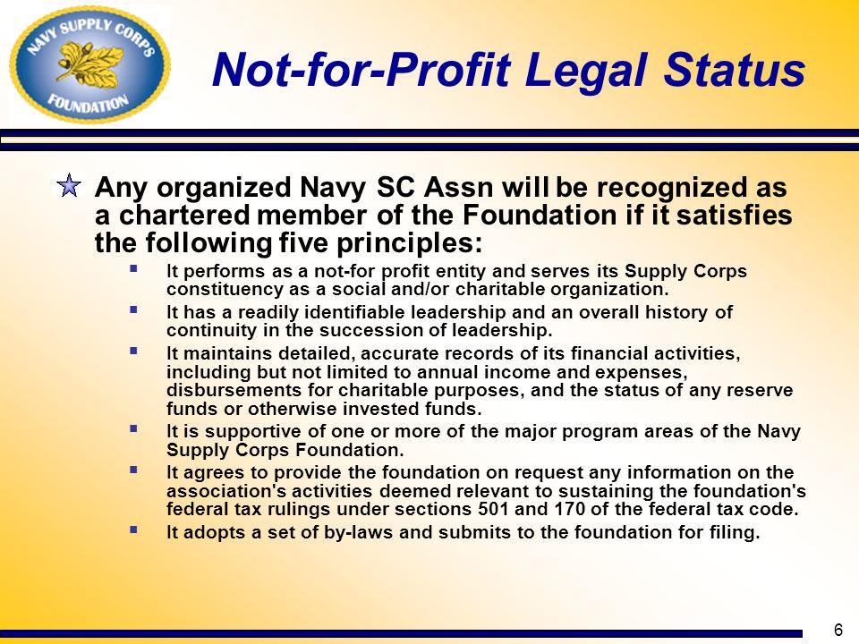 Not-for-Profit Legal Status