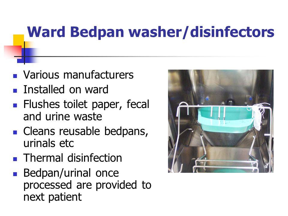 Ward Bedpan washer/disinfectors