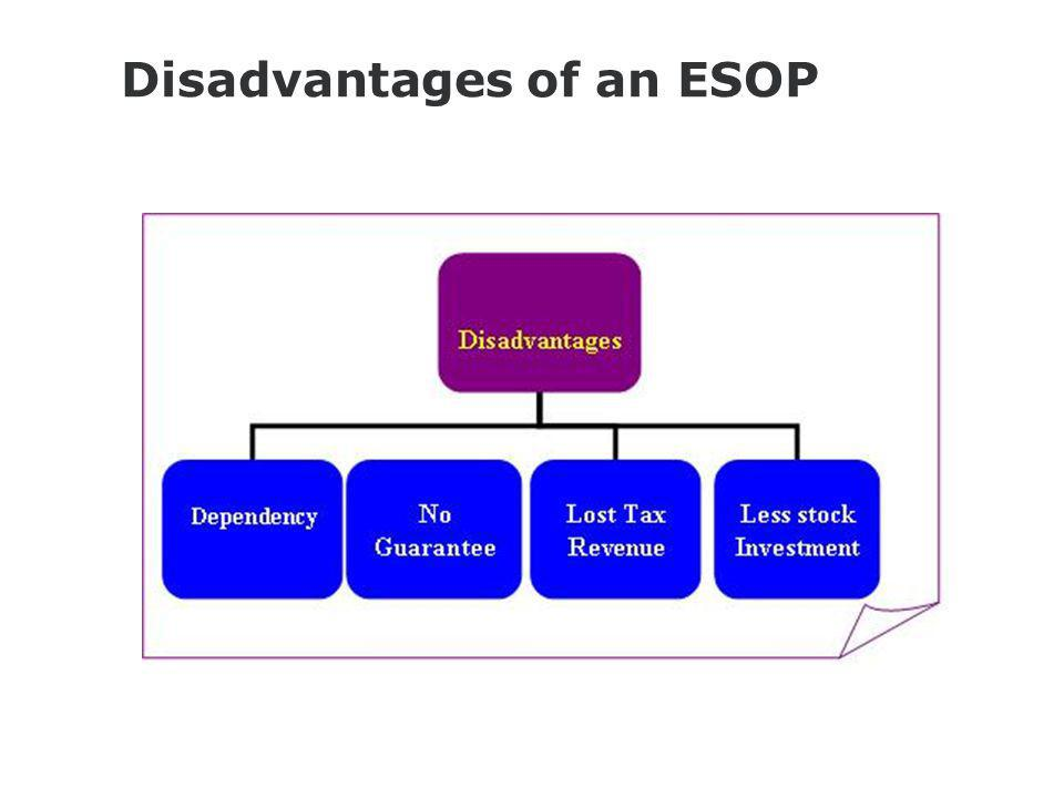 Disadvantages of an ESOP