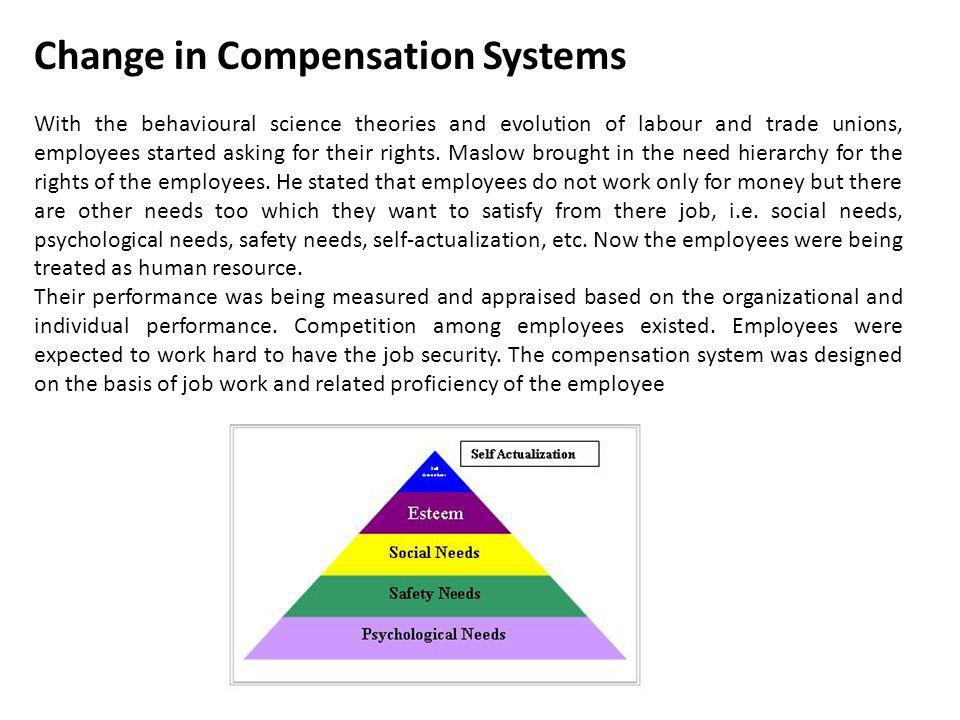 Change in Compensation Systems