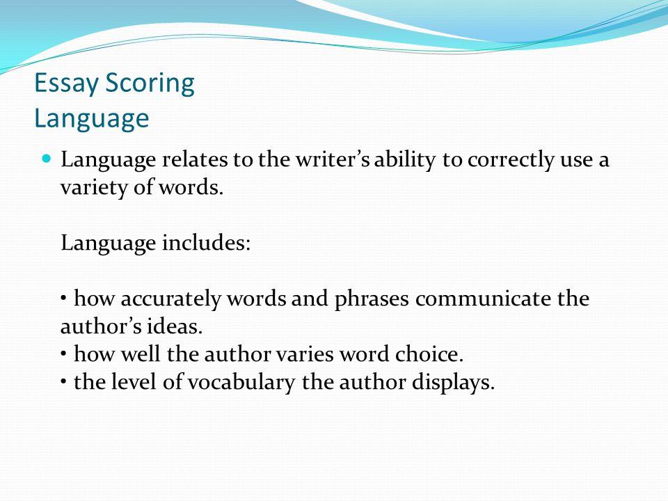 Essay Scoring Language