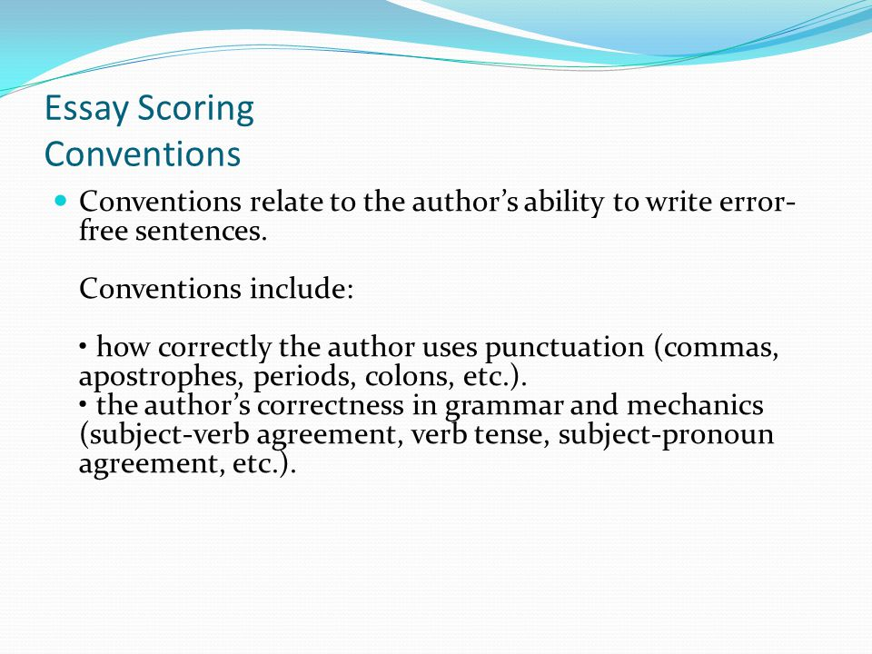 Essay Scoring Conventions