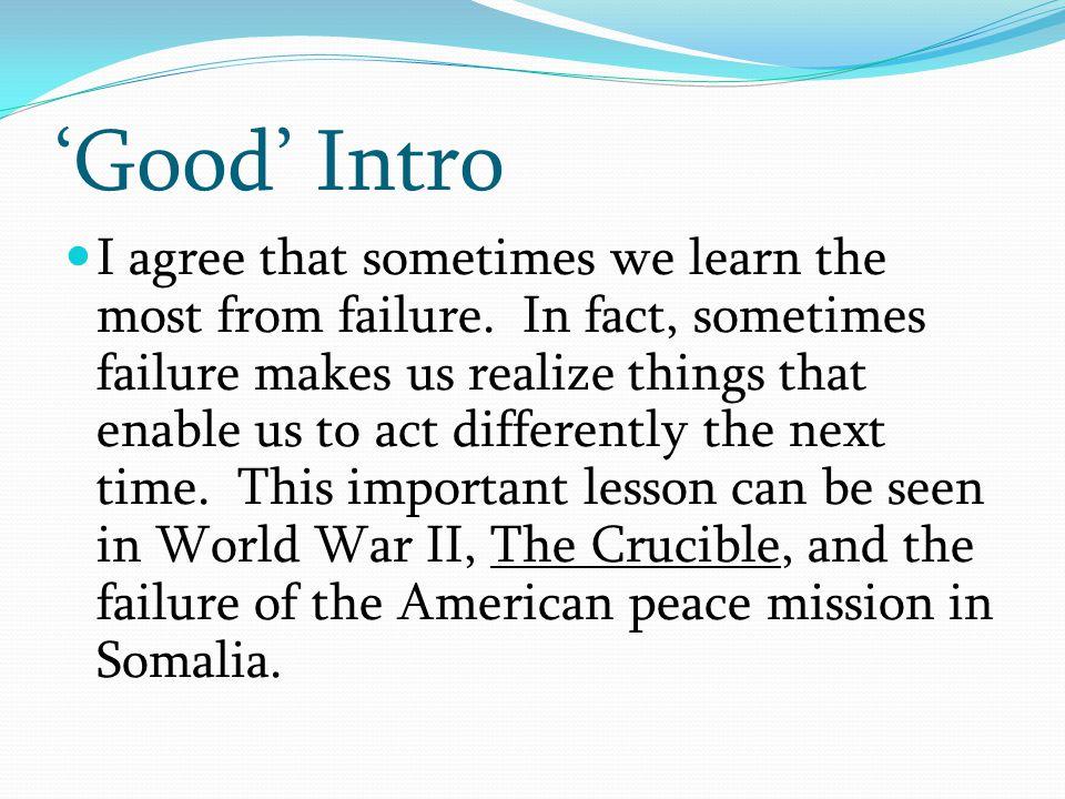 'Good' Intro