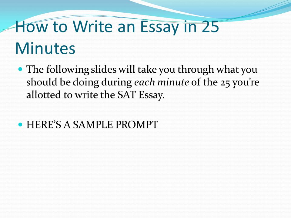 how do you write an essay for sat