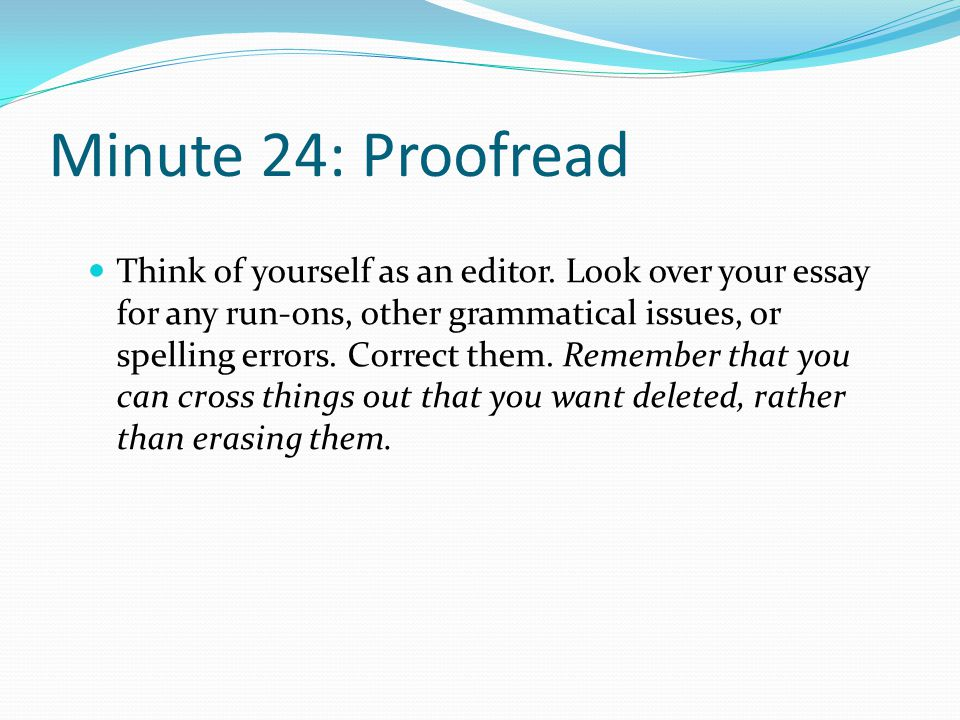 Minute 24: Proofread