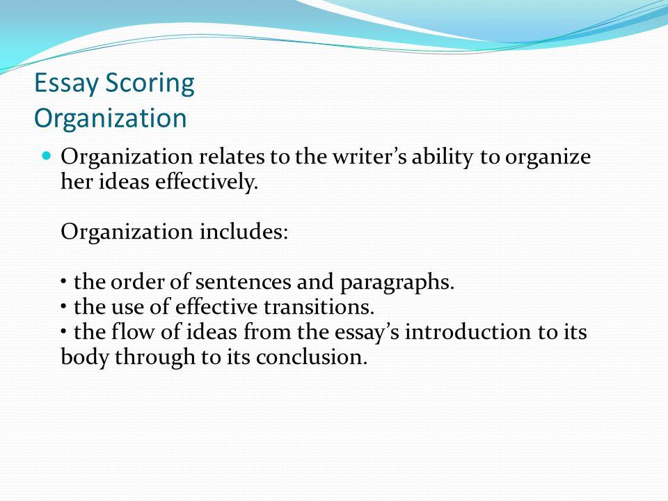 Essay Scoring Organization