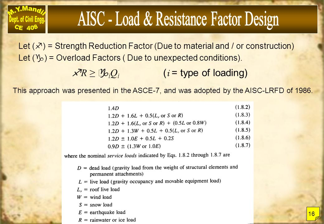 AISC - Load & Resistance Factor Design