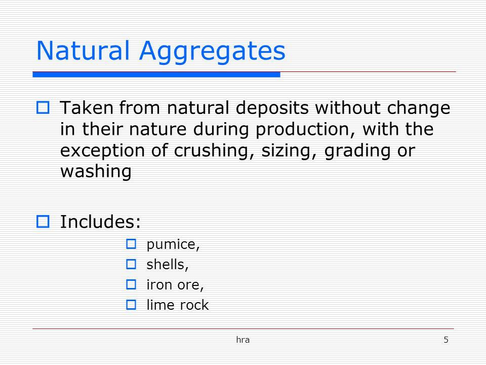 Natural Aggregates