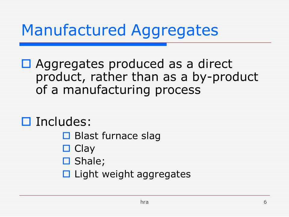 Manufactured Aggregates