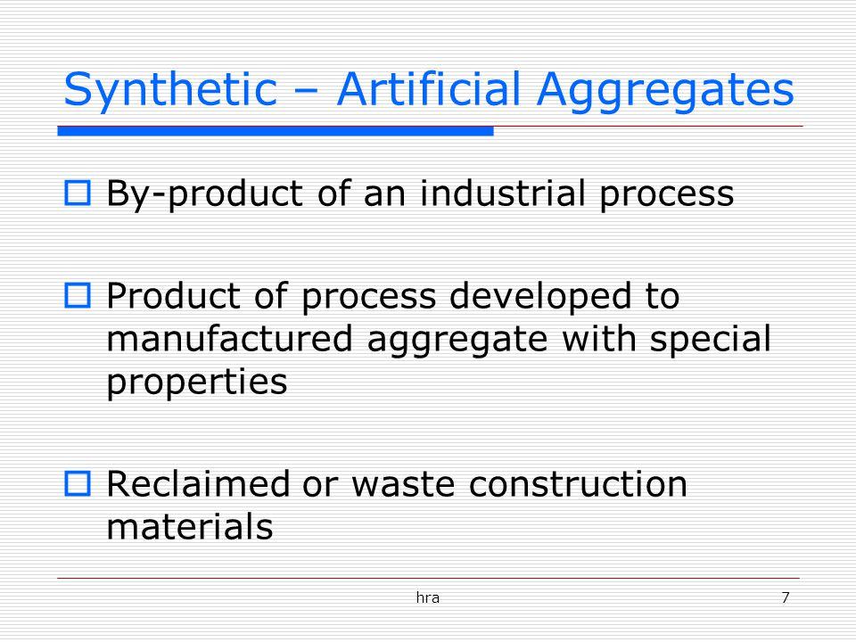 Synthetic – Artificial Aggregates