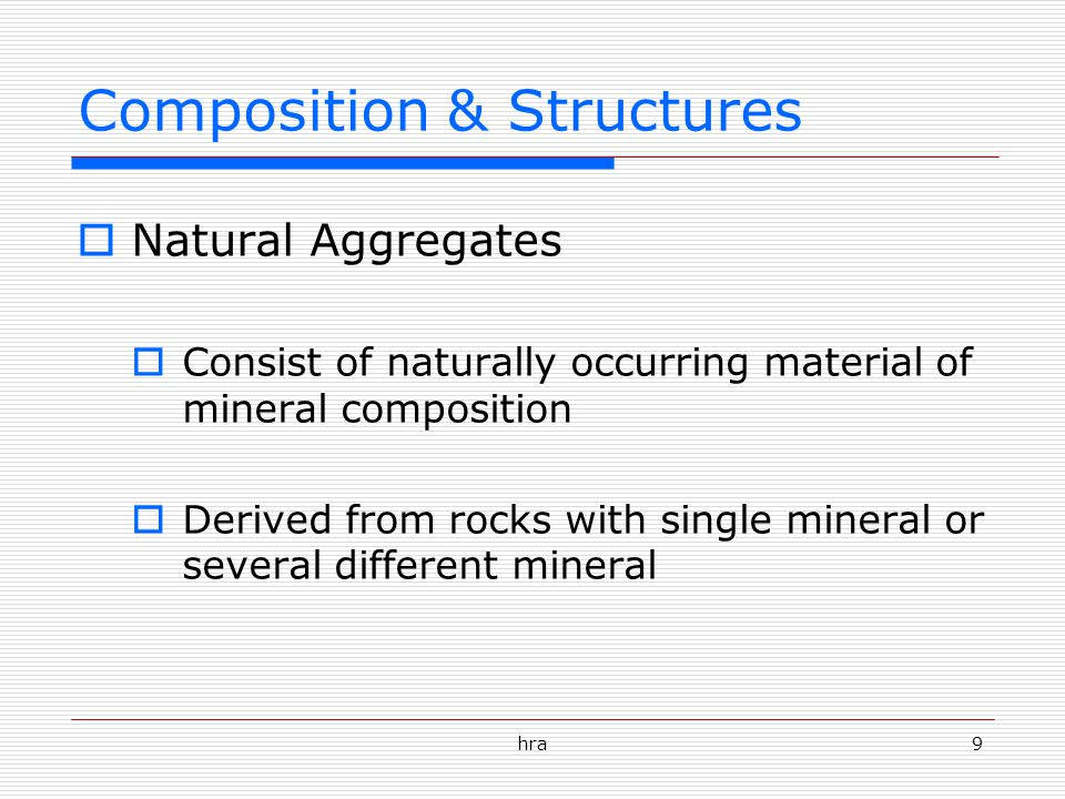 Composition & Structures
