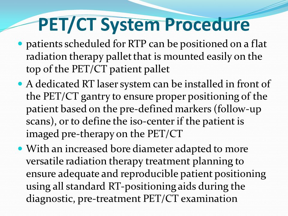 PET/CT System Procedure