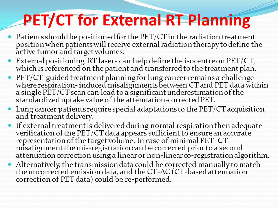 PET/CT for External RT Planning