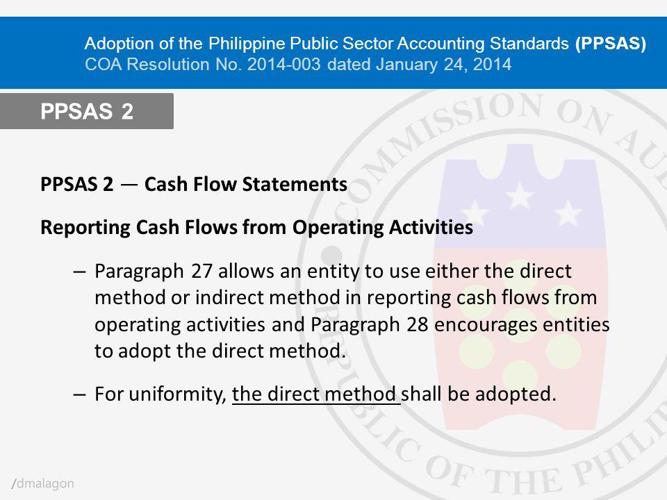 PPSAS 2 ― Cash Flow Statements