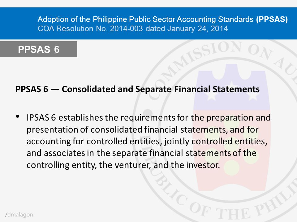 PPSAS 6 ― Consolidated and Separate Financial Statements